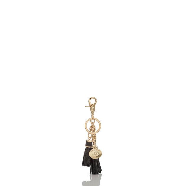 Tassel Key Ring Black Melbourne, Black, hi-res