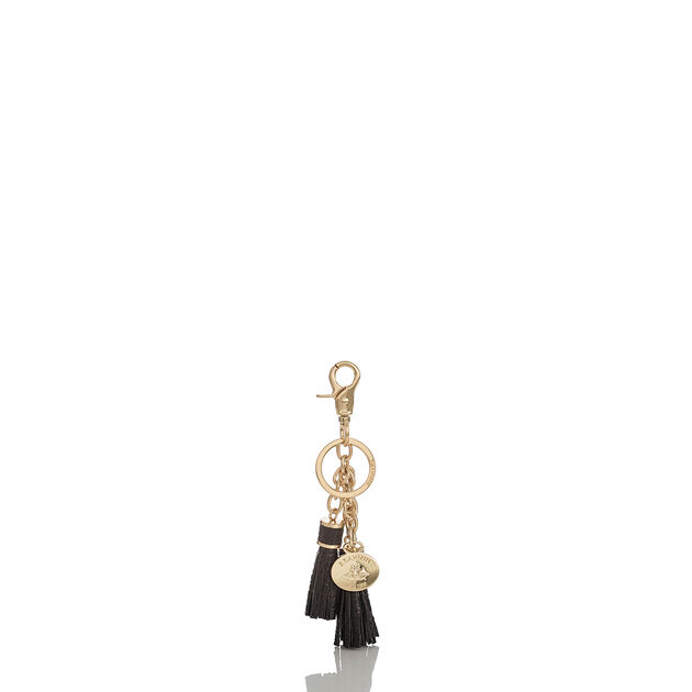 Tassel Key Ring Black Melbourne, Black, hi-res