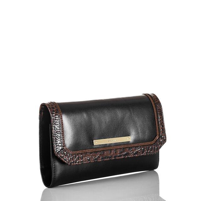 Soft Checkbook Wallet Black Tuscan Tri-Texture, Black, hi-res