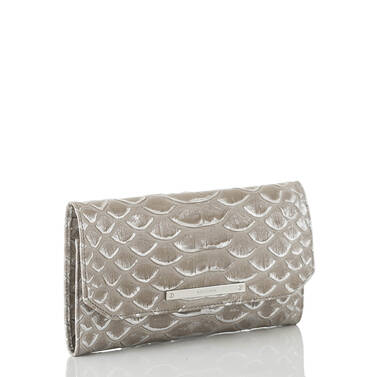 Soft Checkbook Wallet Silver Pamilla Side
