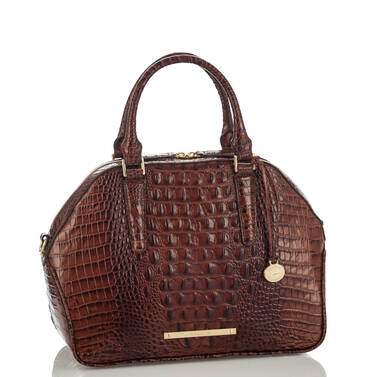 Hudson Satchel Pecan Melbourne Side