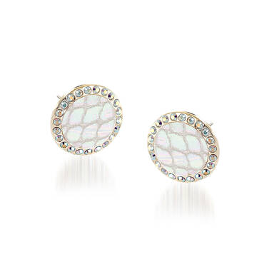 Round Crystal Earrings Prism Fairhaven Front
