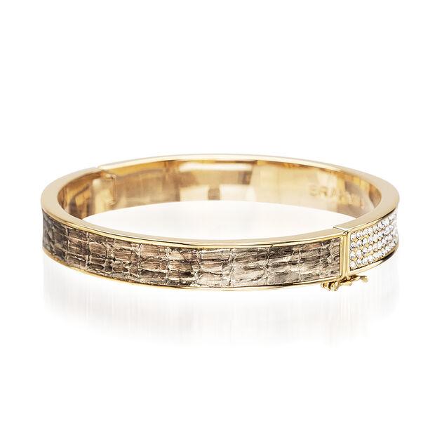Split Crystal Bangle Gold Fairhaven, Gold, hi-res