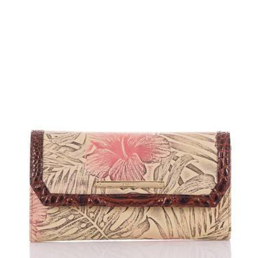 Soft Checkbook Wallet Pecan Amina Front