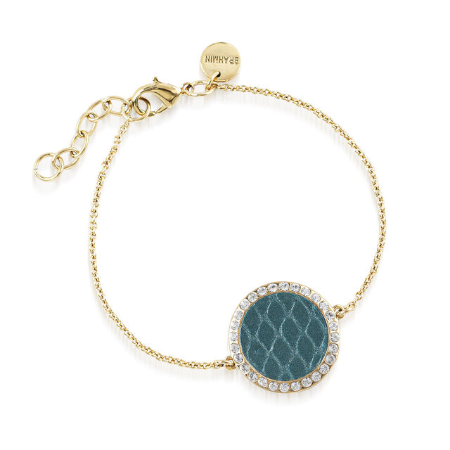 Circle Crystal Link Bracelet Agate Fairhaven, Agate, hi-res