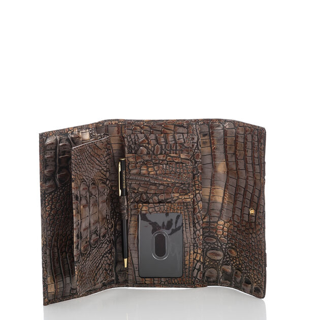 Soft Checkbook Wallet Fall Tortoise Cosimo