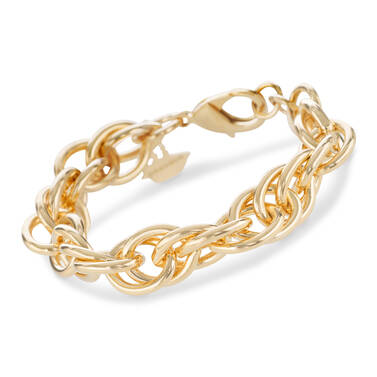 Double Round Chain Bracelet Light Gold Providence Front