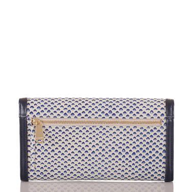 Soft Checkbook Wallet Blue Lorena Back
