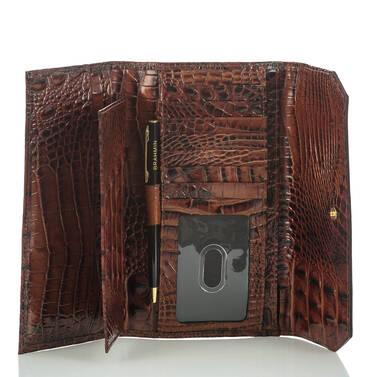 Soft Checkbook Wallet Ivy Figaro Interior