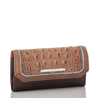 Soft Checkbook Wallet Toasted Almond Garrone Side