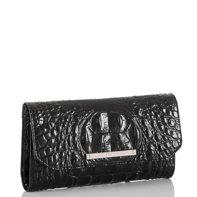 Soft Checkbook Wallet Black Melbourne