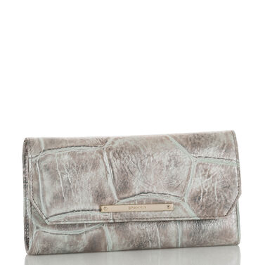 Soft Checkbook Wallet Pewter Majorelle Front