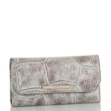 Soft Checkbook Wallet Pewter Majorelle Side