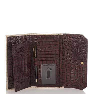 Soft Checkbook Wallet Pink Collins Interior