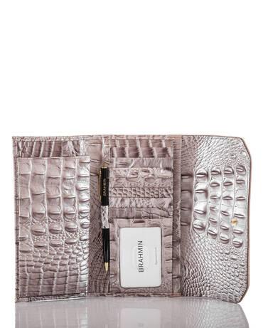 Soft Checkbook Wallet Pecan Antonia Interior