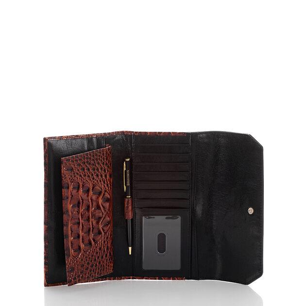 Soft Checkbook Wallet Pecan Fitzgerald