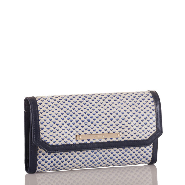 Soft Checkbook Wallet Blue Lorena
