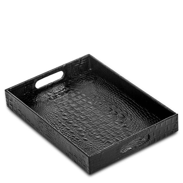 Large Tray Black Melbourne, Black, hi-res