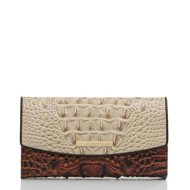 Modern Checkbook Wallet Linen Osmia Front