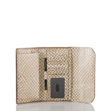 Soft Checkbook Wallet Latte Java Front