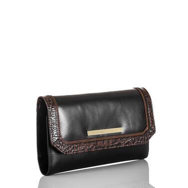 Soft Checkbook Wallet Black Tuscan Tri-Texture Side