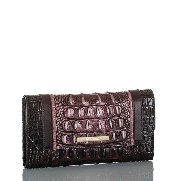 Soft Checkbook Wallet Plum Sangrita