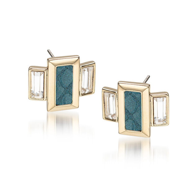 Emerald Cut Crystal Earrings Agate Fairhaven, Agate, hi-res
