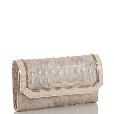 Soft Checkbook Wallet Topaz Alma Side