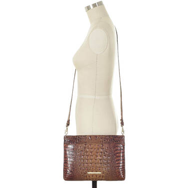 Remy Crossbody Toasted Almond Melbourne on figure for scale