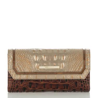 Soft Checkbook Wallet Rose Gold Provence Front