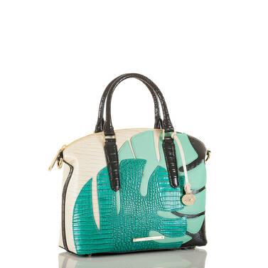 Duxbury Satchel Turquoise Belem Side