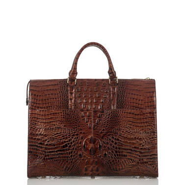 Business Tote Pecan Melbourne Back