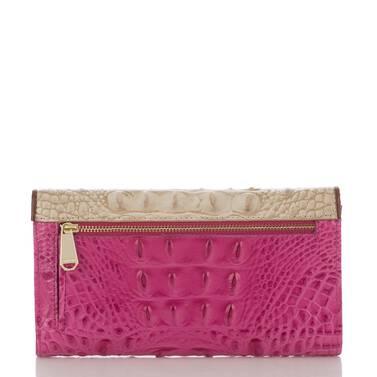 Soft Checkbook Wallet Raspberry Biscayne Back
