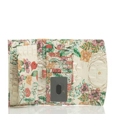 Modern Checkbook Wallet Ivory Tahiti Interior