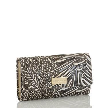 Soft Checkbook Wallet Silver Loreto Side
