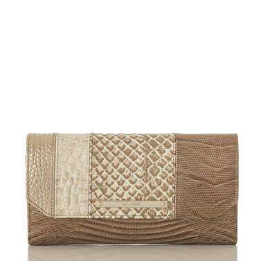 Soft Checkbook Wallet Latte Buena Vista Front