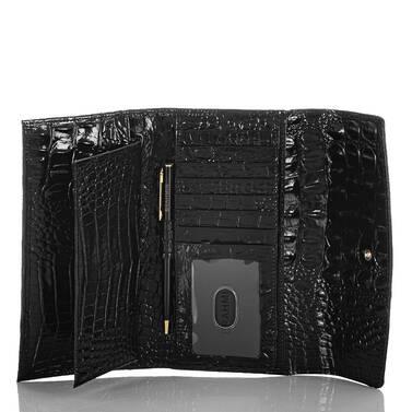 Modern Checkbook Wallet Black Melbourne Interior