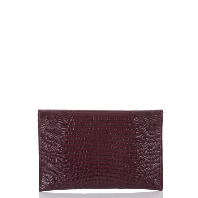 Envelope Clutch Plum Fashion Lizard, Plum, hi-res