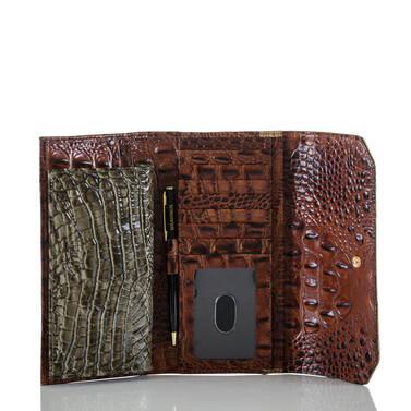 Soft Checkbook Wallet Forest Nottingham Interior