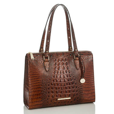 Anywhere Tote Pecan Melbourne Side