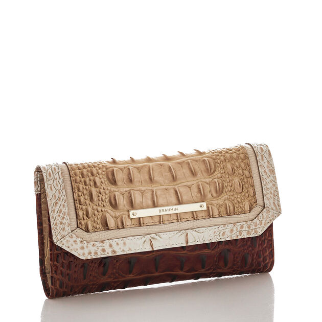 Soft Checkbook Wallet Honeycomb Leroy