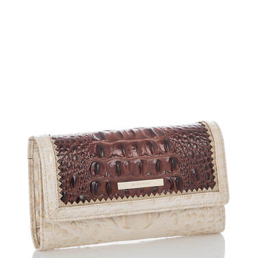 Soft Checkbook Wallet Pecan Soriano Side