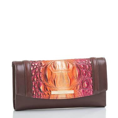 Modern Checkbook Wallet Sunset Gables Side