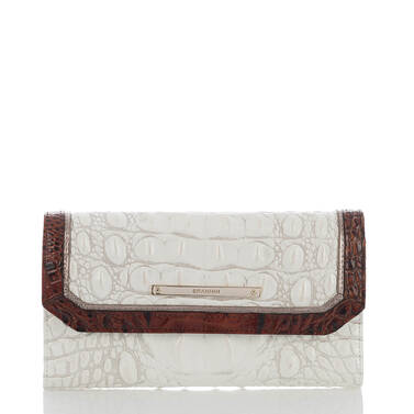 Soft Checkbook Wallet Pearl Akoya Front