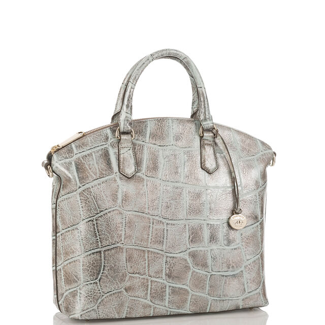 Large Duxbury Satchel Pewter Majorelle, Pewter, hi-res
