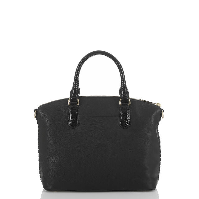 Duxbury Satchel Black Sampson, Black, hi-res