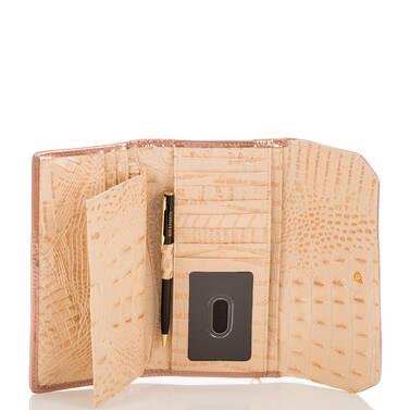 Soft Checkbook Wallet Apricot Crandon Interior