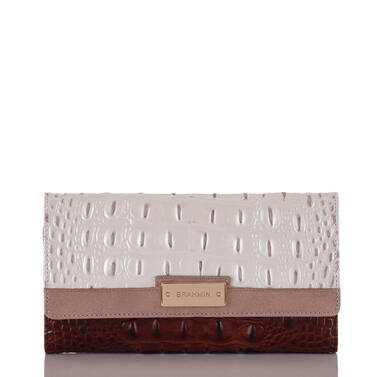 Soft Checkbook Wallet Toasted Macaroon Durance Front