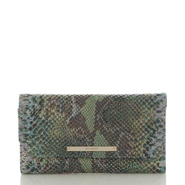 Soft Checkbook Wallet Moonstone Seville Front