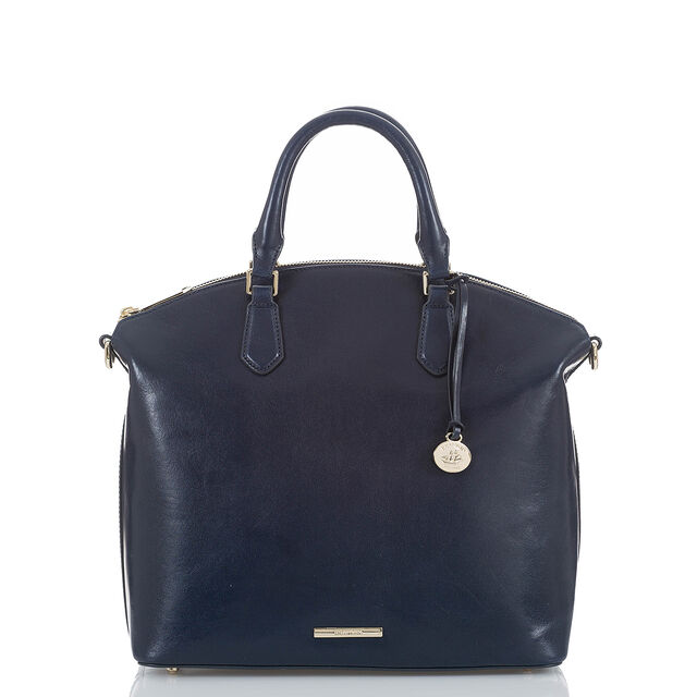 Large Duxbury Satchel Navy Topsail, Navy, hi-res